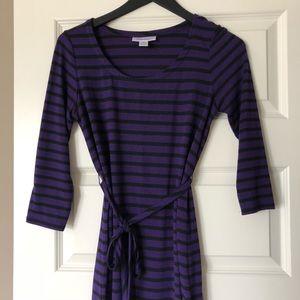 Purple and black tunic
